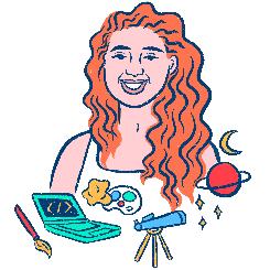 An illustration of Eva by Ashley Lukashevsky